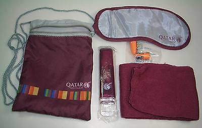 Qatar Airway Airlines Travel Amenity Kit Bag included accessary