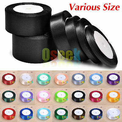 25yards 6mm - 50mm Satin Ribbon Sewing Wedding Festival DIY Craft Decoration