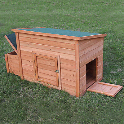 Cordoba Large Hen House And Nest Box (Chicken Duck Coop Hutch Poultry Ark Perch)