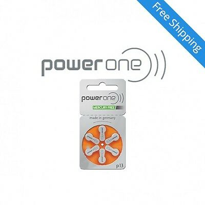 Power one hearing aid batteries (Size 13) - 5 cards (30 cells) MF