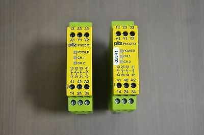 PILZ  PNOZ-X1 SAFETY RELAY Lot of 2