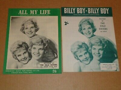 "Dale Sisters ""All My Life"" sheet music"