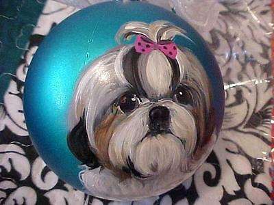 Shih Tzu Handpainted Christmas Ornament