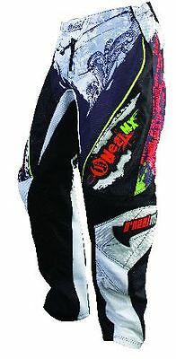 """Oneal Mayhem Motocross Quad Pants Trousers Black White 27"""" Waist Other Colours"""