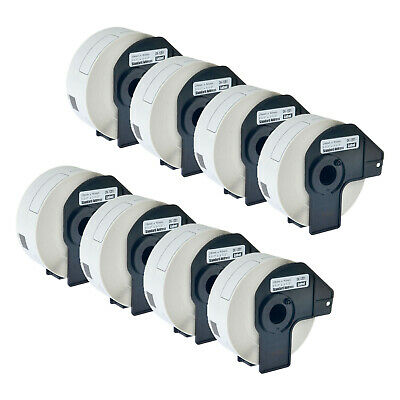 8Roll DK1201 White Address Label for Brother DK-1201 QL-710W Printer W/Cartridge