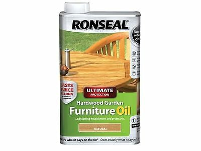 Ronseal - Ultimate Protection Hardwood Garden Furniture Oil Natural Clear 500ml
