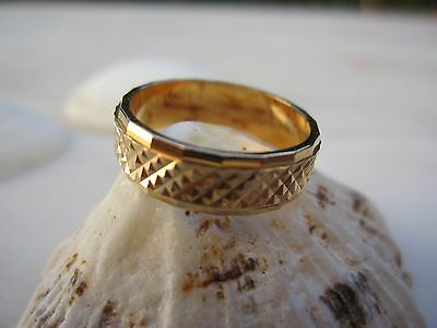 Vintage Oria Jewellry Gold Plated 18 K Wedding Alliance Ring Size 5 Band Women