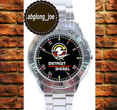 New CLASSIC DETROIT DIESEL ENGINE Custom Chrome Men's Casual Watch Wristwatches