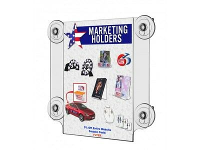 8-Pack Window Signs for 8.5 x 11 Inches Signs Glass Mount Suction Cups
