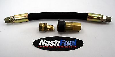 """6FT CRIMPED NATURAL GAS PROPANE LOW PRESSURE HOSE 3//4/"""" ID SUPPLY QUICK CONNECT"""