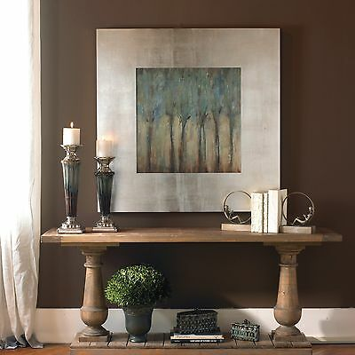 """Huge 47"""" Oil Reproduction Hand Finished Tree Landscape Painting Tuscan Wall Art"""