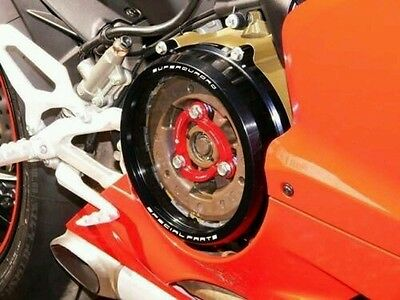Ducabike Clear Clutch Cover & Spring Retainer For Ducati 1199 1299 Panigale NERO