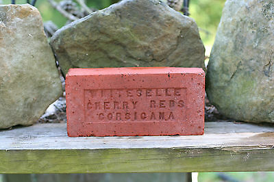 Vintage BRICK CORSICIANA WHITESELLE CHERRY REDS Stamped in Brick