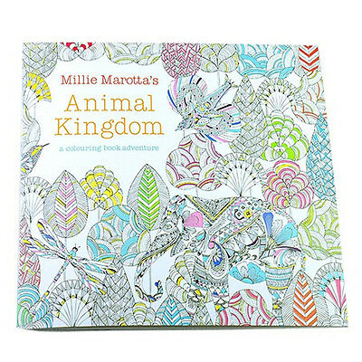Children Adult Animal Kingdom Treasure Hunt Coloring Painting Book TS