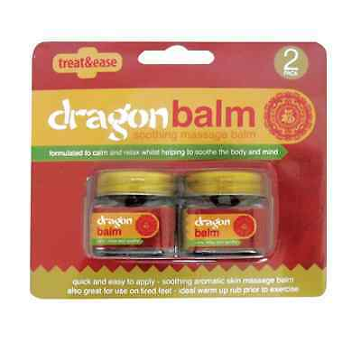 2 x 20g Treat & Ease Dragon Balm Aromatic Soothing Skin Massage Pain Relief OTL