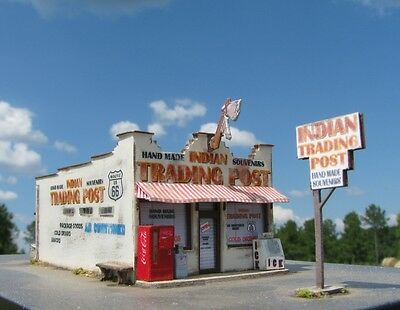 N Scale Route 66 Series: Indian Trading Post Kit for Model Railroad Hobby (127)