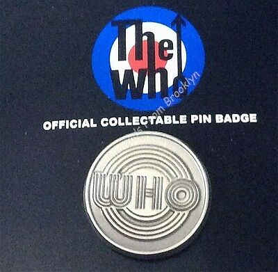The Who Silvertone Logo Fan Collector Pin