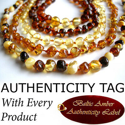 BALTIC AMBER NECKLACE Baby Child Teething AGbA® Certified