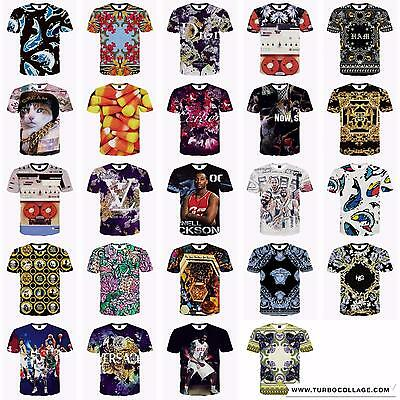 Mens Womens 3D Fashion Funny Printed Casual Short Sleeve T Shirts Tee Tops Oupr