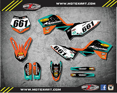 Full Custom Graphics Kit VITAL Style stickers decals to fit KTM 65 2009 - 2015