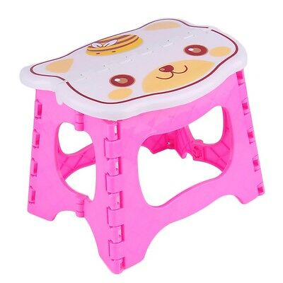 NEW Infant Baby Foldable Folding Step Stool Chair Kids Store Flat Outdoor I5