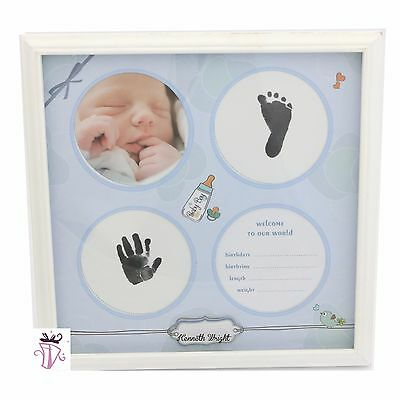 Baby Boy Prints Hand Feet Photo Frame Gallery Newborn Baby Present Gift