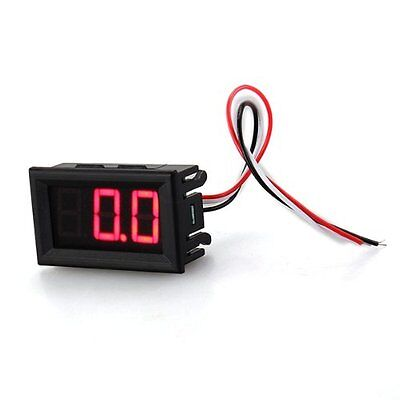 WD Meter Mini Panel 0-100V DC voltmeter Tension Show 20mA three red wire