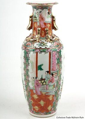 China 20. Jh. A Chinese Famille Rose Canton Baluster Vase - Vaso Cinese Chinois