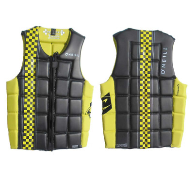 969. ONeill Checkmate Yellow Black Competiton Vest