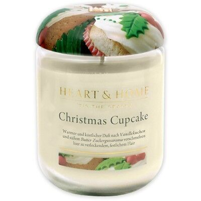 Heart and Home 3275000403 Duftkerze Groß Christmas Cupcake