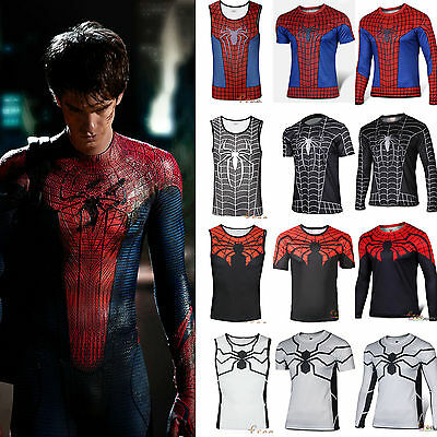 Marvel DC Comics Spider-man Tops Shirt Compression Sports Cycling T-shirt Jersey