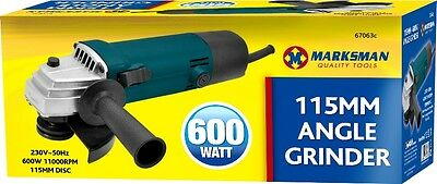 "Markmans 41/2"" 600W Watt 115mm Corded Electric Angle Grinder Grinding Sanding 3C"