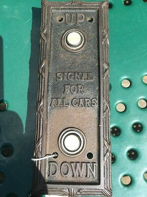 Antique Early 20Th Century Lobby Elevator Car Call Button Backplate. L@@k