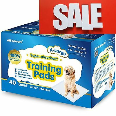 NEW All-Absorb Extra Large Training Pads X-Large Dogs Potty Pets Puppies No Leak