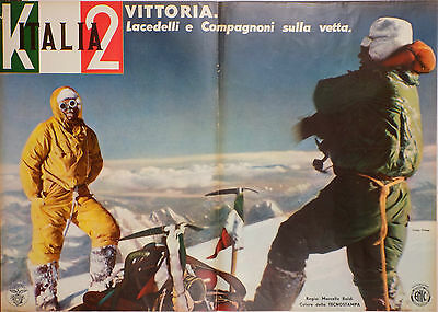 K2 Italia: Set of lobby cards for film of 1954 First Ascent