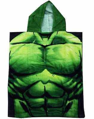 Marvel Official The Hulk Swimming Summer Beach Bath Hooded Poncho Towel