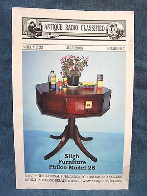 Antique Radio Classified July 2005