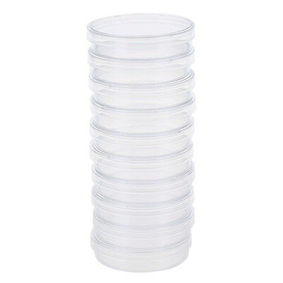 10 pcs 60mm x 15mm polystyrene sterilized Petri dishes with lids Clear TS