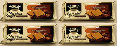 4 Packs Wawel wafers with cocoa filling, No Addad Sugar