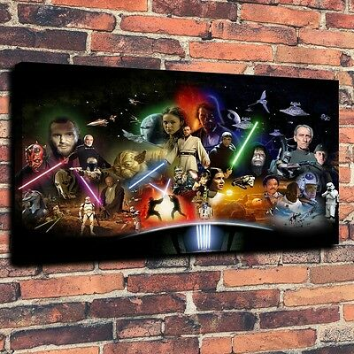 Art CANVAS PRINT,  Star Wars Character  cartoon war Wall Decor ,16x24