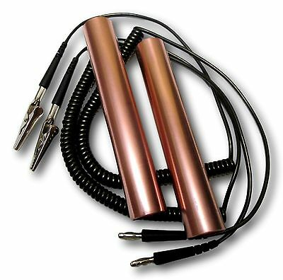 Copper Tube Handholds With Connecting Cables And Alligator Clips