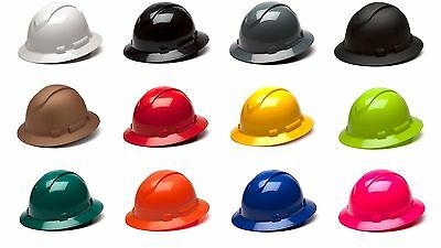 Pyramex Hard Hat Full Brim Cap 4 Point Ratchet Ridgeline Work Job Safety HP541