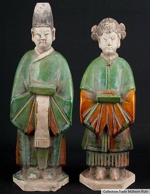 China 20. Jh. Figuren - Chinese Pottery Figures in Tang Style - Cinese Chinois