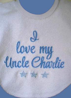 Personalised Baby Bib  Custom Message Bib - Great Baby Gift Made To Order