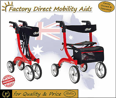 Drive Nitro Mobility Rollator Walker - Fast Delivery!
