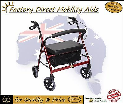Extra Wide Steel Bariatric Mobility Walker / Rollator 200Kgs capacity Bargain!