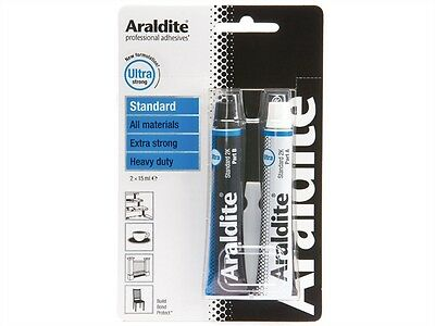 Araldite STANDARD Heavy Duty Extra Strong Solvent Free Adhesive 15ml (2) Tubes