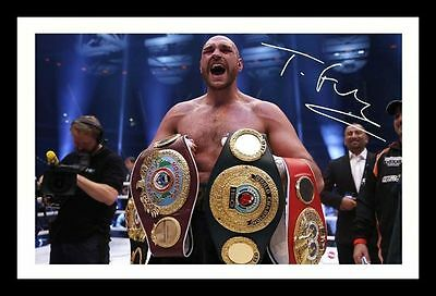 Tyson Fury Autographed Signed & Framed Pp Poster Photo 1