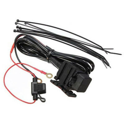 NEW Waterproof Motorbike 12v USB Power Socket Adapter Charger Outlet Motorcycle