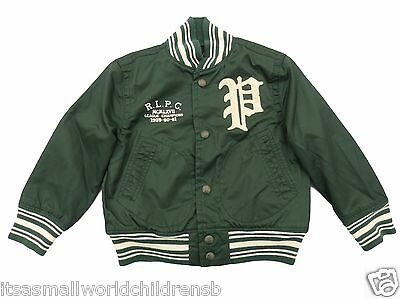 boys RALPH LAUREN Retro New York Baseball JACKET 3Y (100cm) Green Bomber BNWT